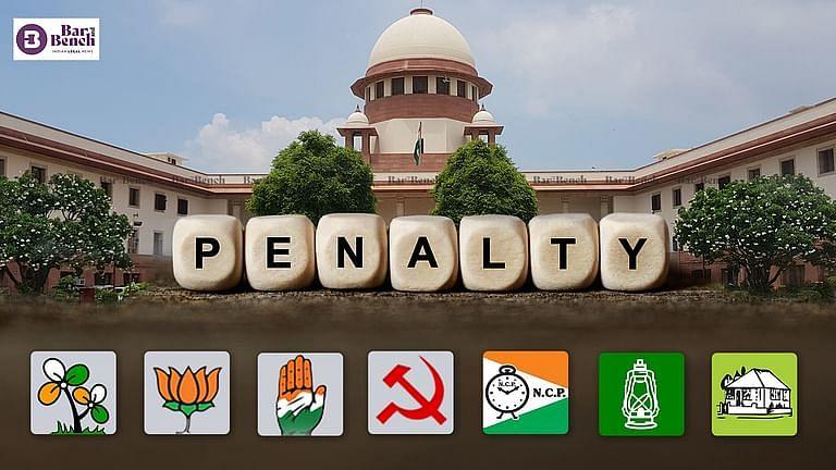 SC ने बिहार विधानसभा चुनाव में उम्मीदवारों के आपराधिक इतिहास का खुलासा नहीं करने के लिए 8 राजनीतिक दलों पर जुर्माना लगाया