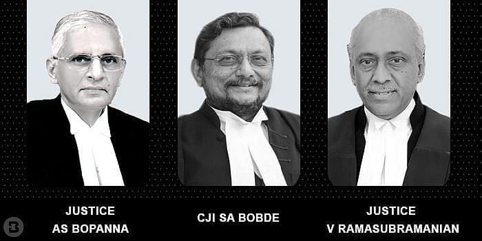 CJI SA Bobde and Justices AS Bopanna and V Ramasubramanian
