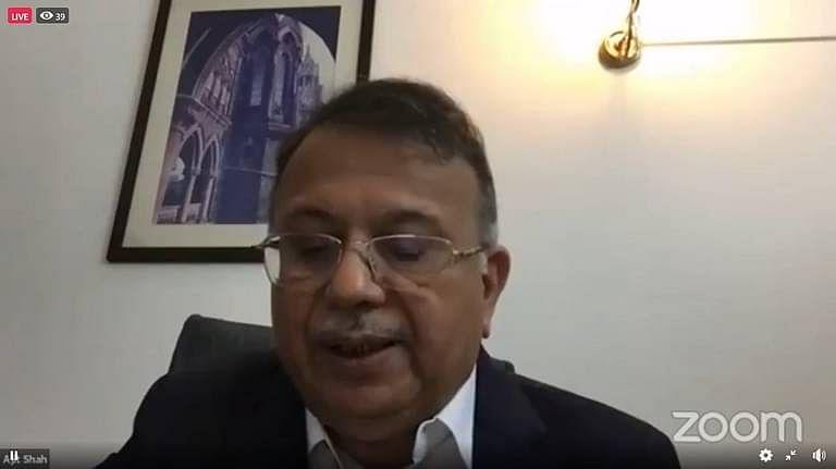 Justice AP Shah speaking at the webinar