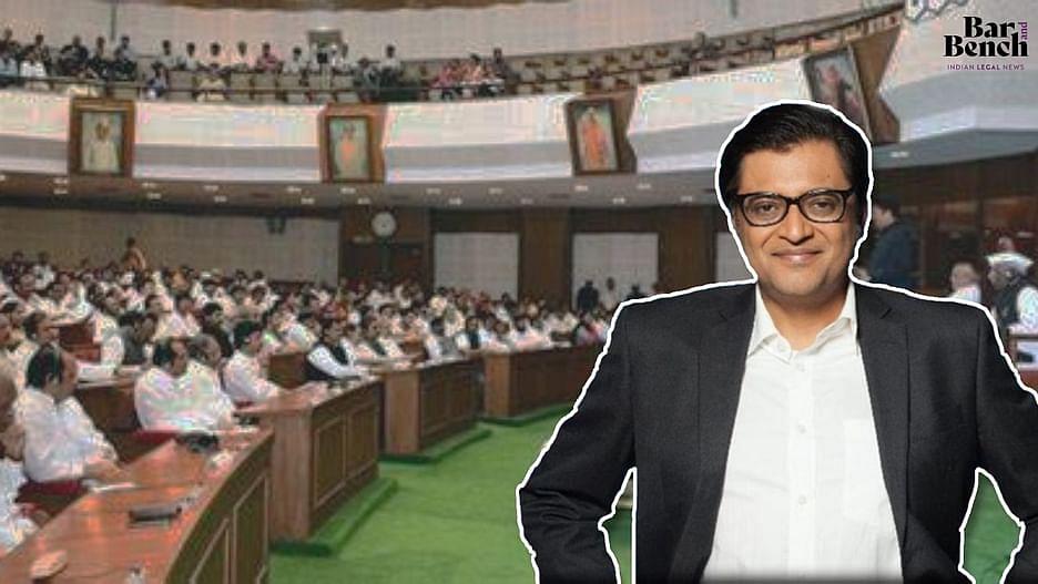Arnab Goswami, Maharashtra Assembly