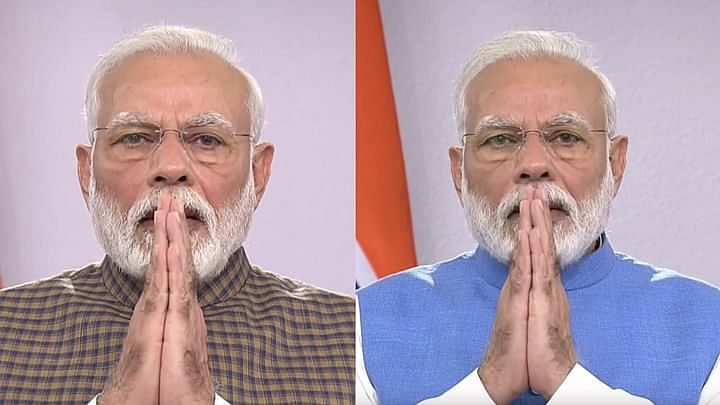 PM Narendra Modi during his TV announcement