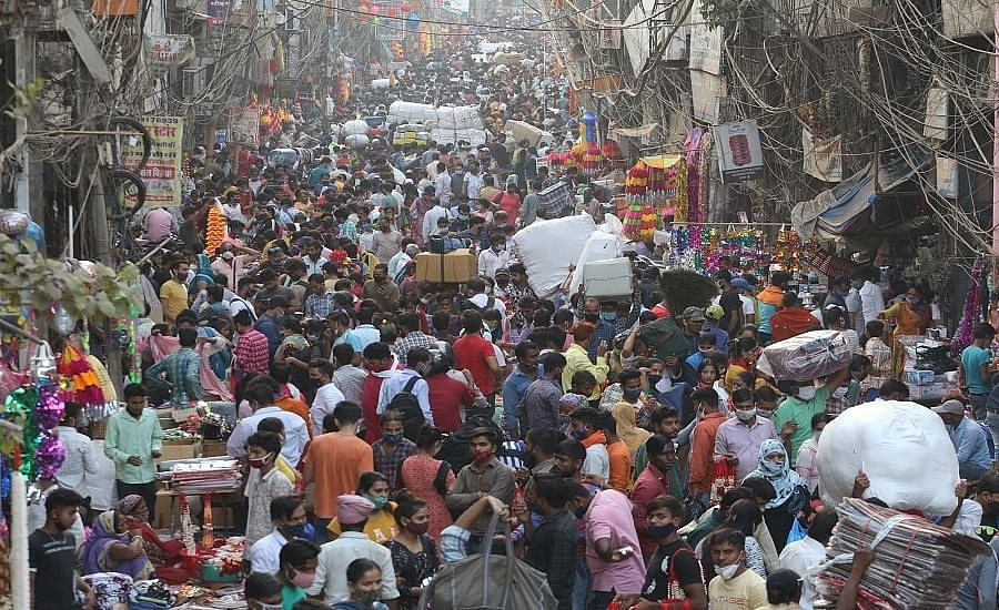 Delhi market amid COVID-19