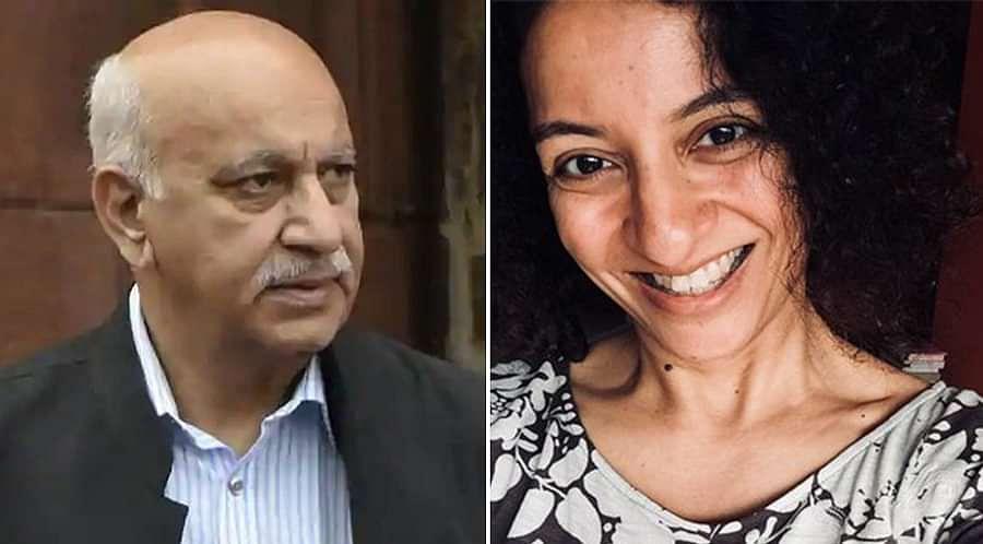 MJ Akbar (L), Priya Ramani (R)