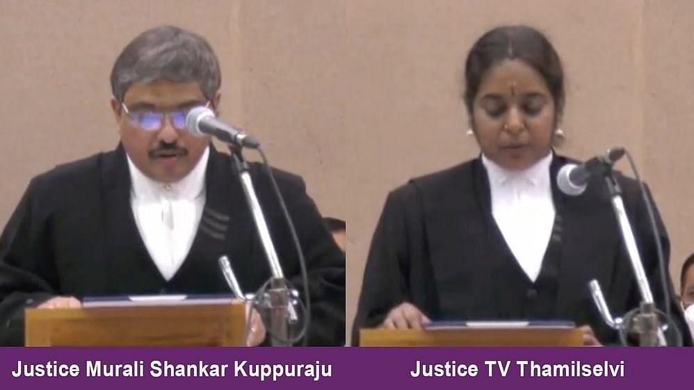 Justice Murali Shankar Kuppuraju and Justice TV Thamilselvi