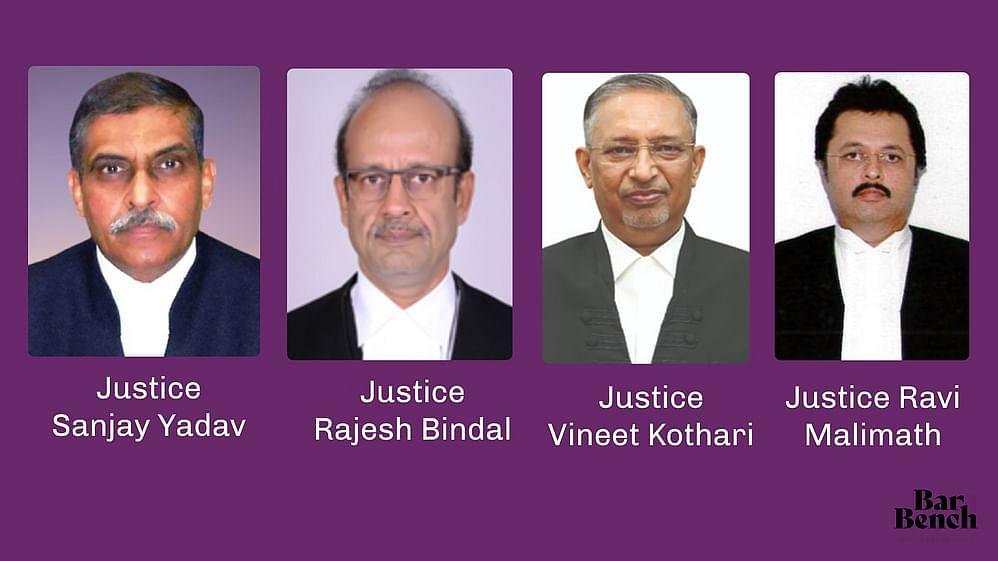Justice Sanjay Yadav , Justice Rajesh Bindal , Justice Vineet Kothari and Justice Ravi Malimath