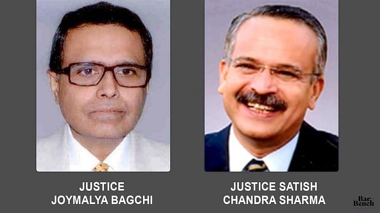 Justice Joymalya Bagchi (L) and Justice Satish Chandra Sharma (R)