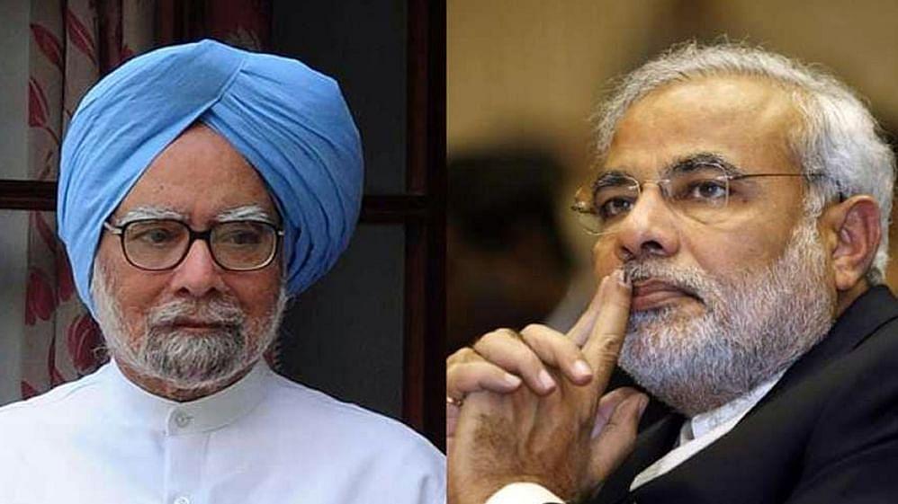 PM Modi and Manmohan Singh