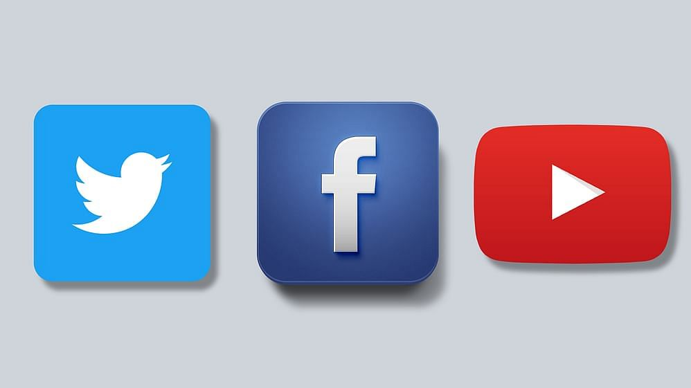 Twitter, Facebook and YouTube