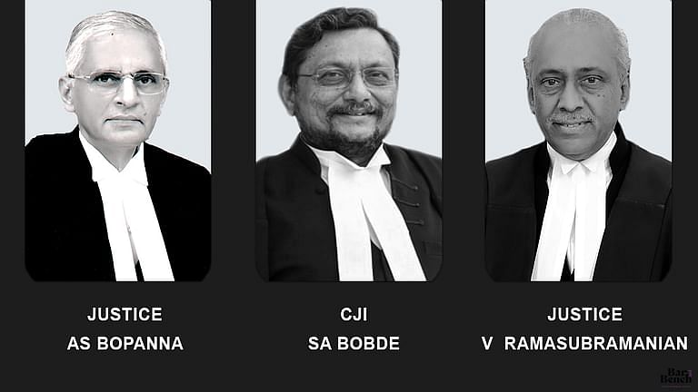 Justices R Subhash Reddy, Ashok Bhushan and MR Shah