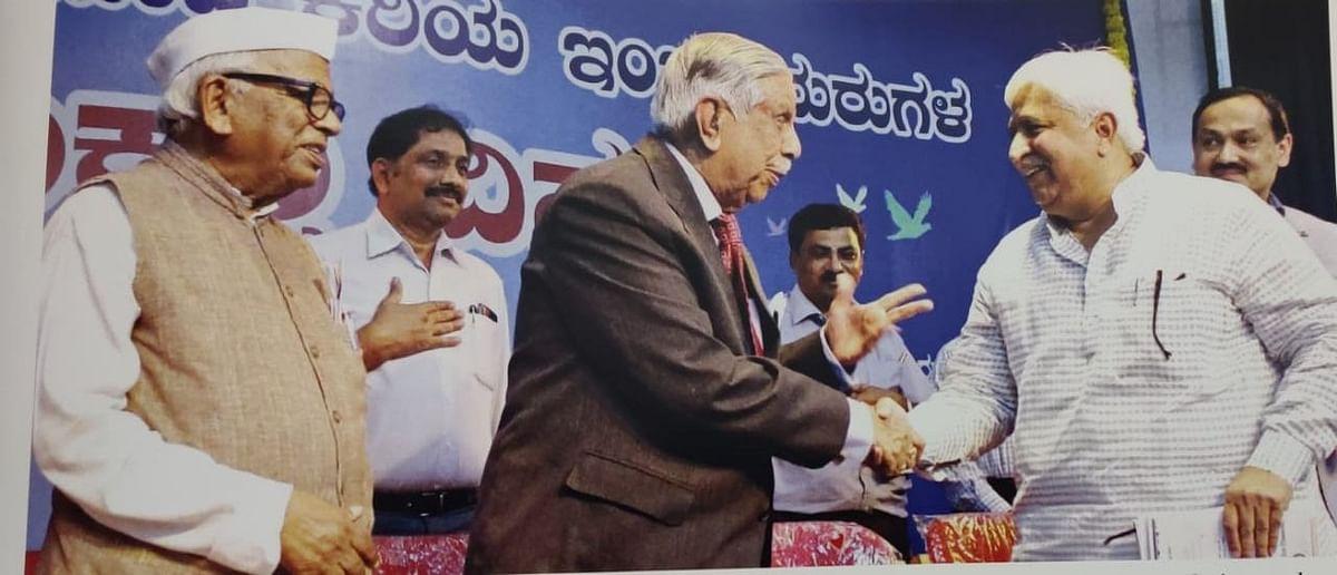 Former CJI M N Venkatachaliah and H K Patil
