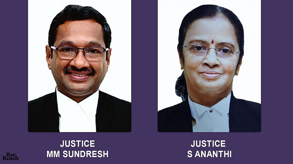 Justices MM Sundresh, S Ananthi