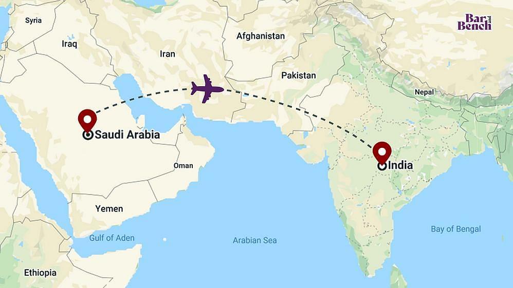 Saudi Arabia to India