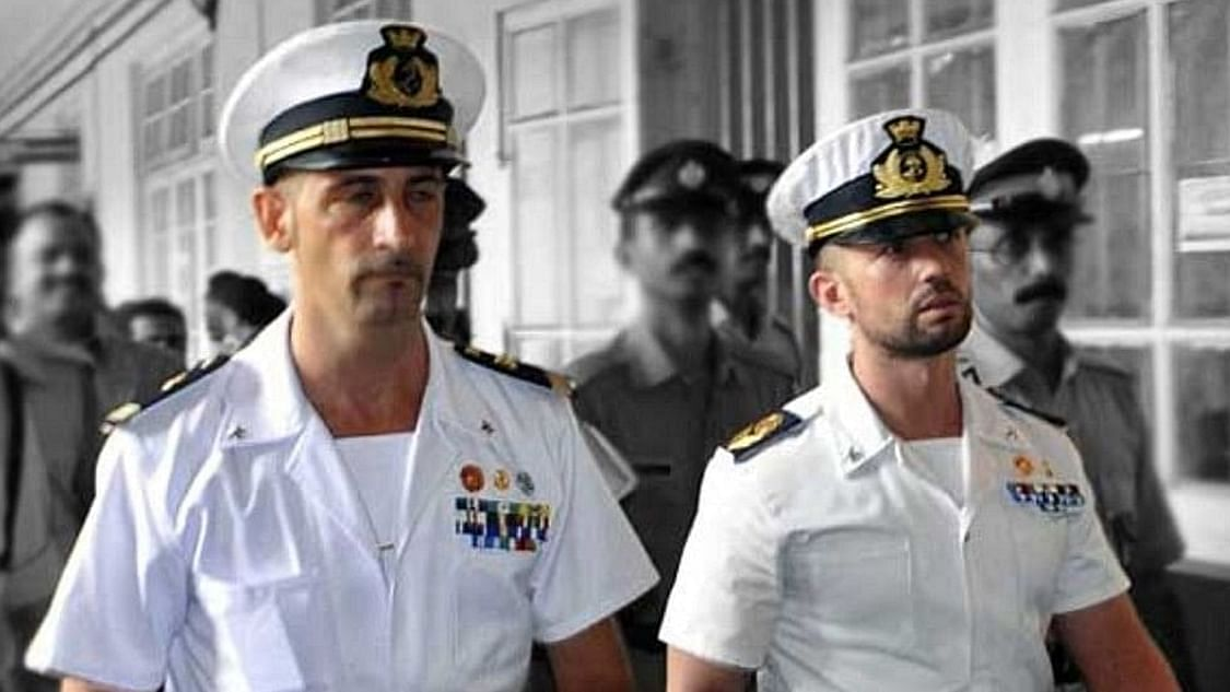 The two Italian marines accused of killing Indian fishermen in the Enrica Lexie case