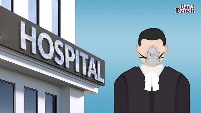 Lawyer, Oxygen mask, Hospital