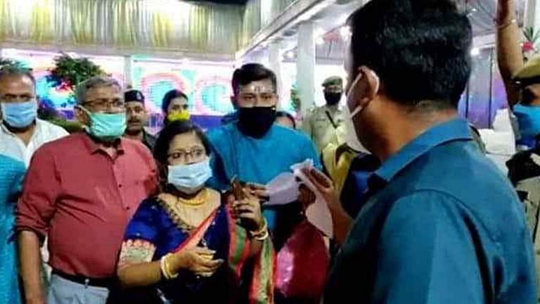 DM of Tripura Crashed into the wedding
