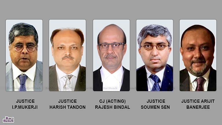 Hon'ble Chief Justice (Acting), the Hon'ble Justice I.P.Mukerji, the Hon'ble Justice Harish Tandon, the Hon'ble Justice Soumen Sen and the Hon'ble Justice Arijit Banerjee