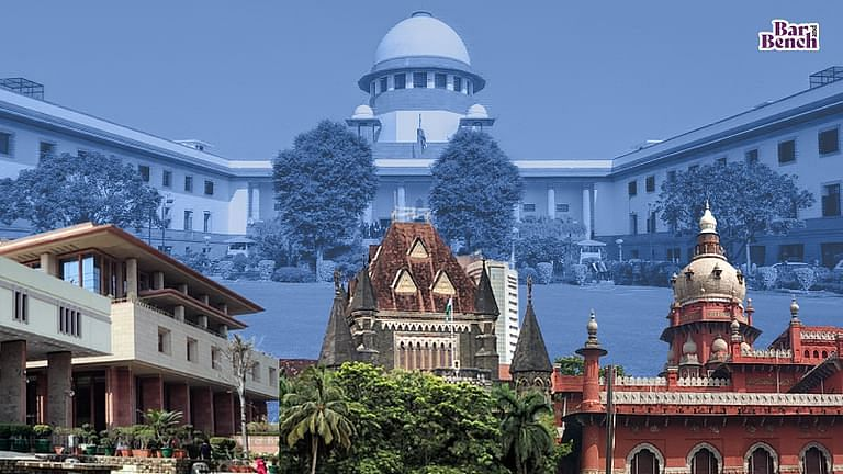 Delhi, Bombay and Madras High Courts with Supreme Court