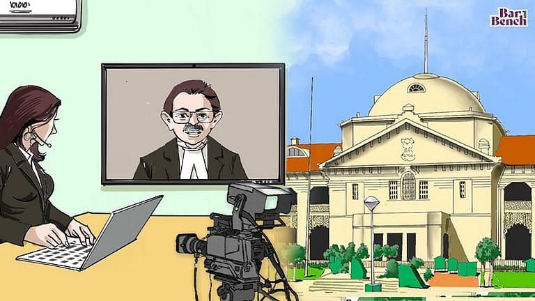 Allahabad High Court with Media Journalist and Virtual courts