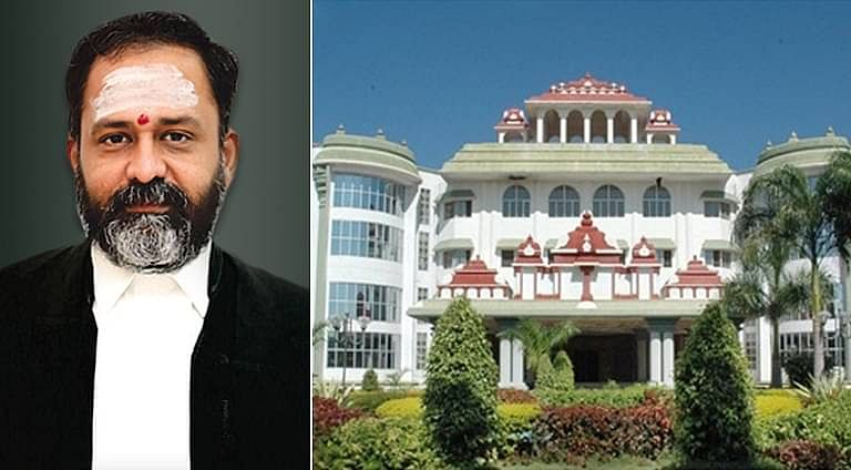 Justice GR Swaminathan (L), Madurai Bench of Madras High Court (R)
