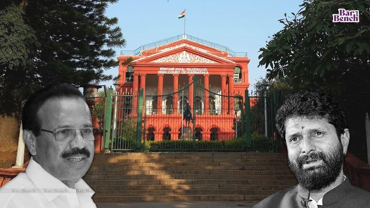 ಕೇಂದ್ರ ಸಚಿವ ಸದಾನಂದಗೌಡ, ಸಿ ಟಿ ರವಿ ವಿರುದ್ಧ ಸ್ವಪ್ರೇರಿತ ನ್ಯಾಯಾಂಗ ನಿಂದನೆ ಮೊಕದ್ದಮೆಗೆ ಕೋರಿ ಹೈಕೋರ್ಟ್ಗೆ ಪತ್ರ