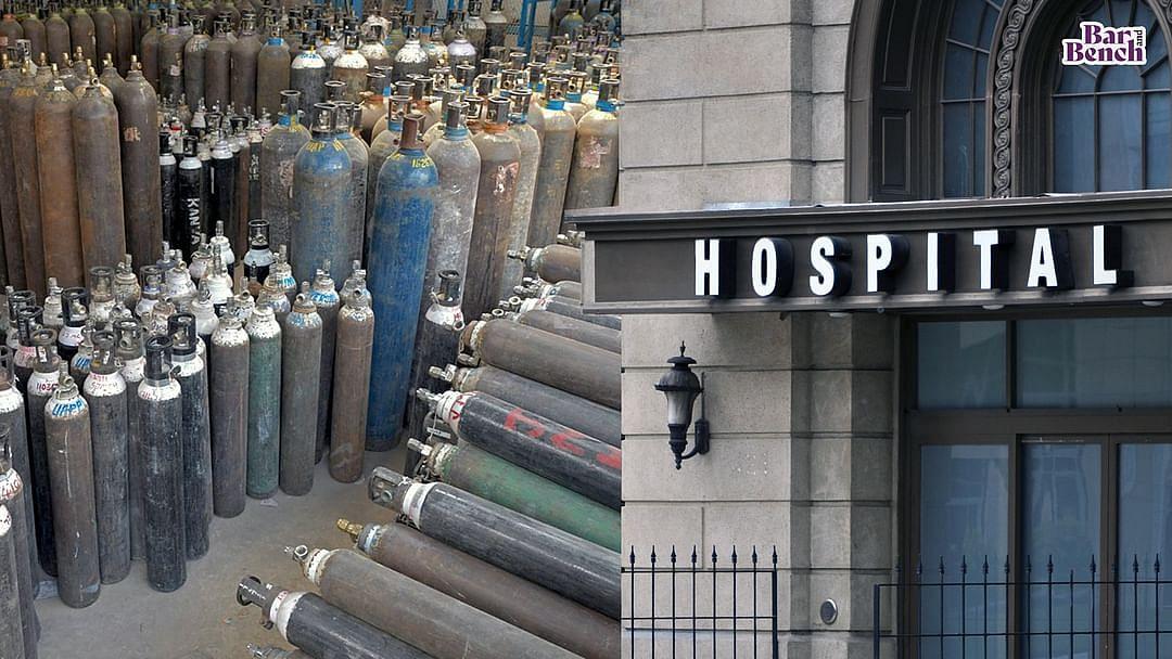 Hospital, Oxygen cylinders