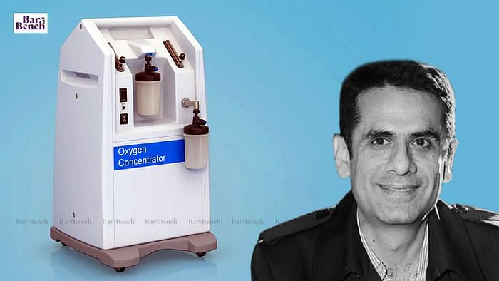 Navneet Kalra and Oxygen concentrator