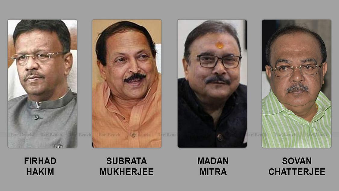 Firhad Hakim, Subrata Mukherjee, Madan Mitra and Sovan Chatterjee