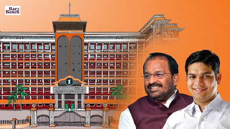 Kerala high court with TN Prathapan and Hibi Eden