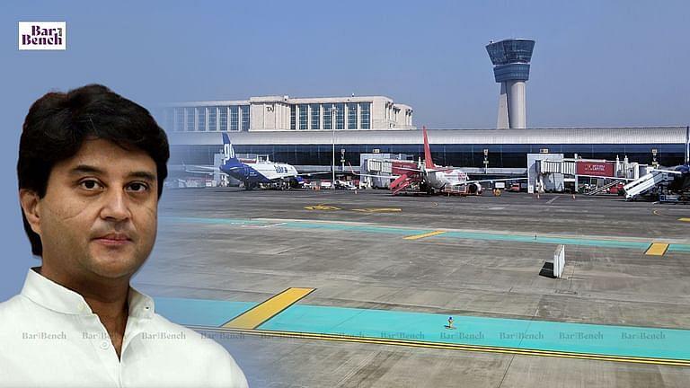 Jyotiraditya Scindia, Airport