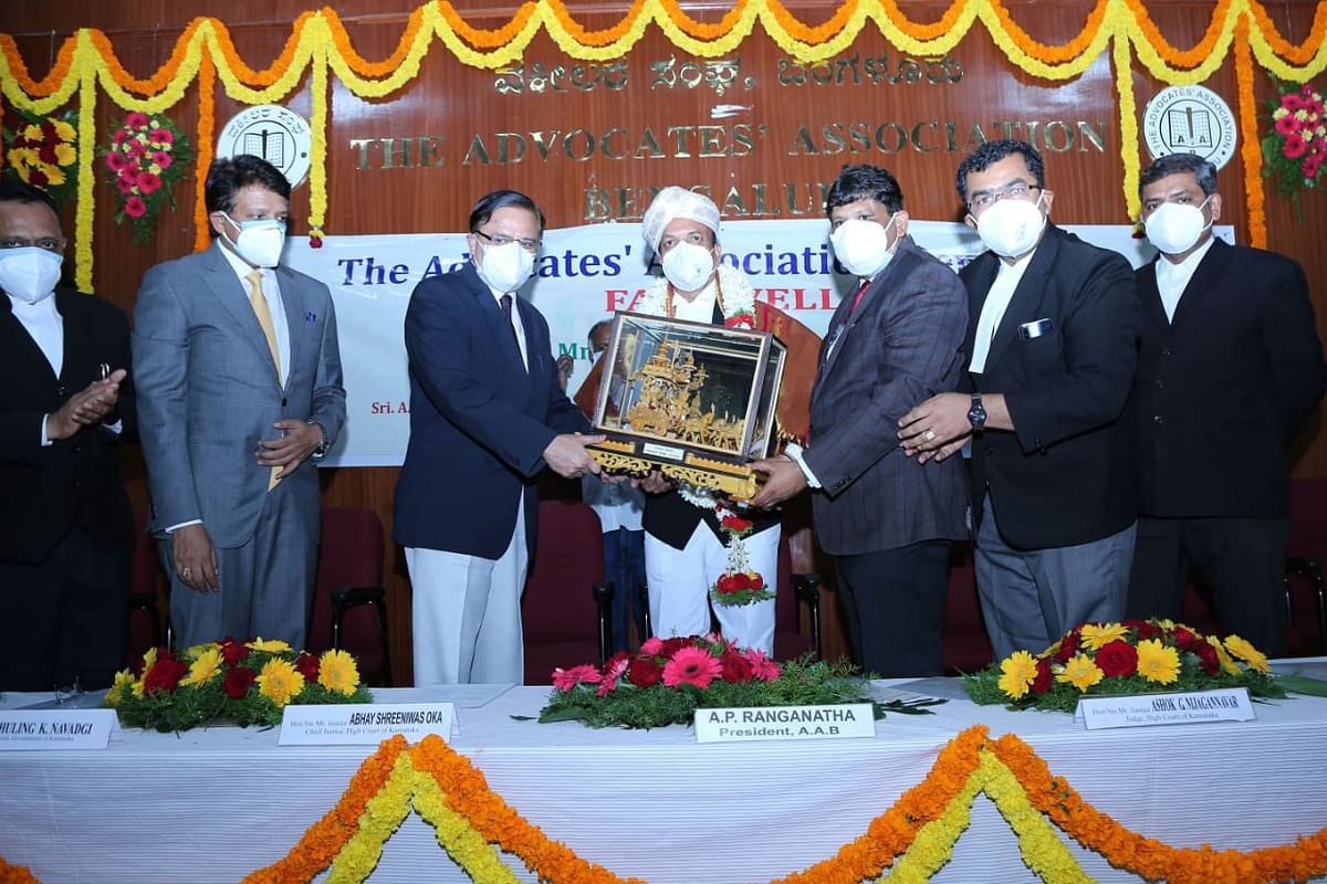 Justice Ashok G Nijagannavar farewell