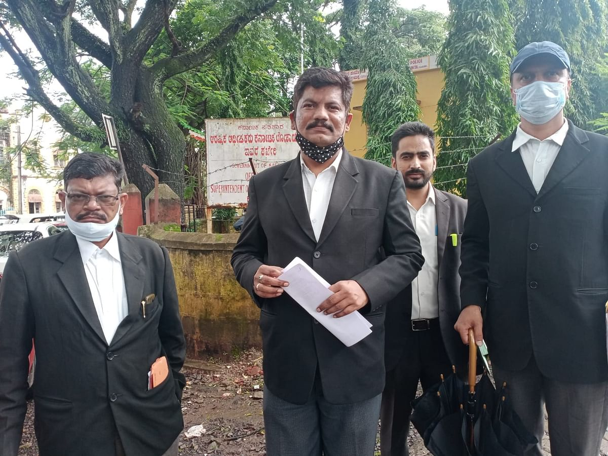 Advocate Surendra Ugare with other lawyers.