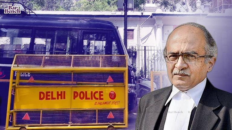 Delhi Police, Prashant Bhushan