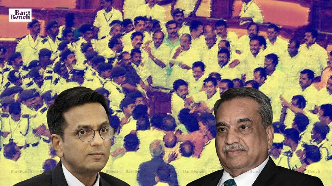 Justices DY Chandrachud and MR Shah, Kerala 2015 Assembly Chaos