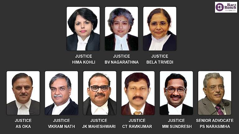 Nine New Judges - Supreme Court