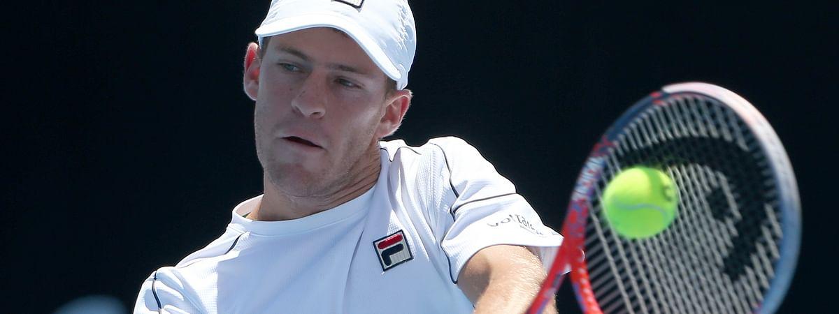 Diego Schwartzman of Argentina in January at the Sydney International tennis tournament in Sydney. (AP Photo/Rick Rycroft)