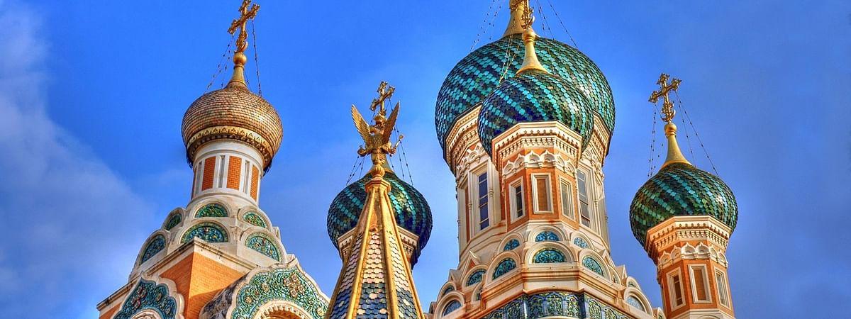A church in St. Petersburg, Russia