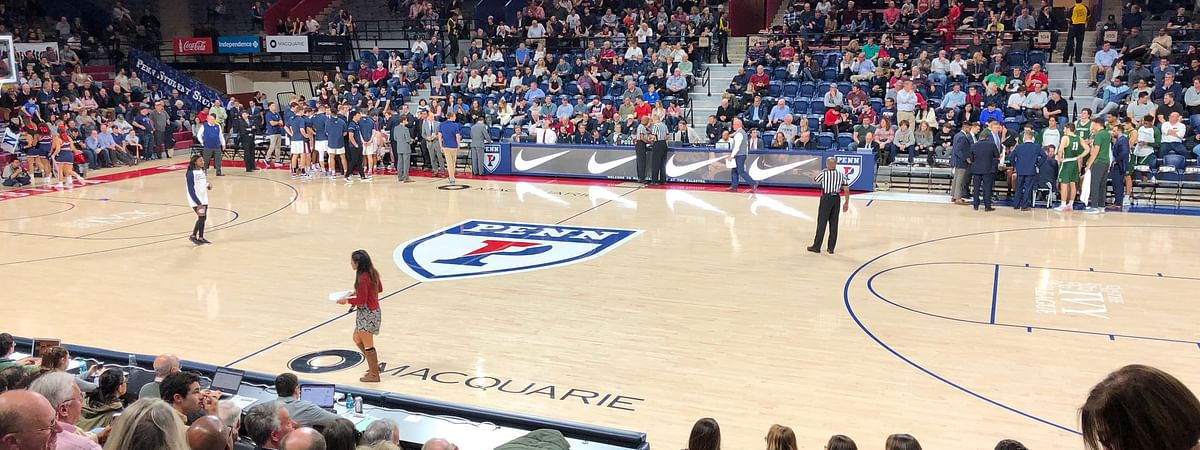 The Palestra readies for Penn-Brown action tonight.
