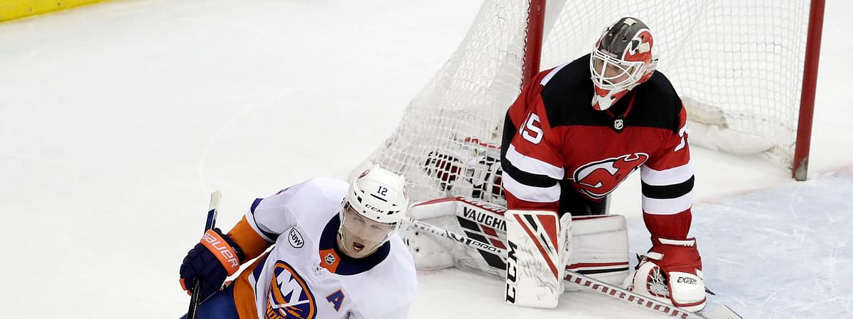 Islanders right wing Josh Bailey after scoring against Devils Cory Schneider in a shootout Thursday