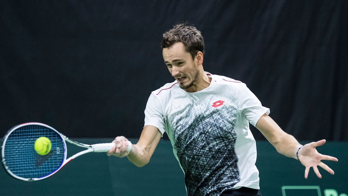 Russia's Daniil Medvedev, at 23, should be part of the next wave of tennis greats. (Peter Schneider/Keystone via AP)