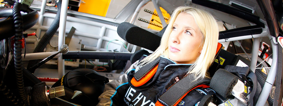 NASCAR Truck Driver Angela Ruch.