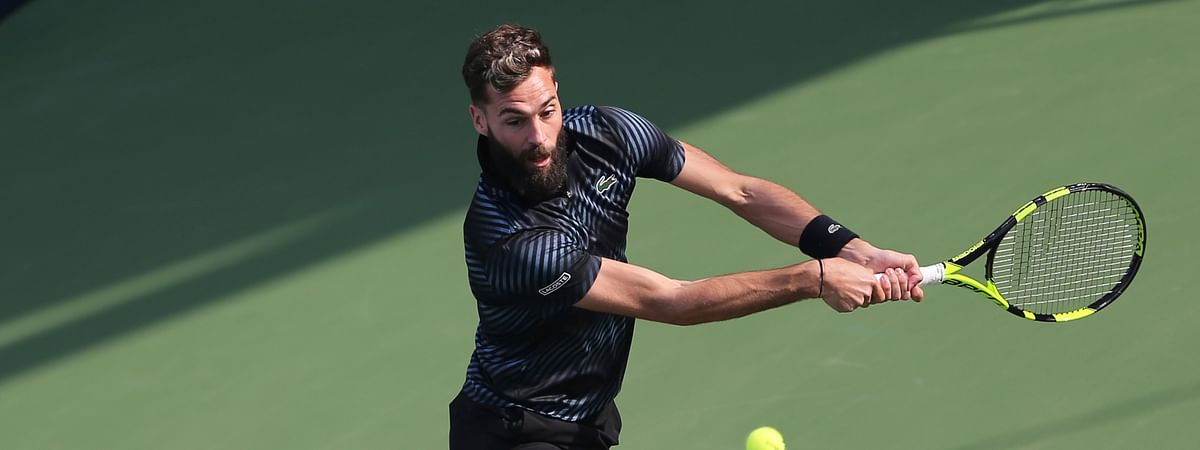 France's Benoit Paire is the No. 1 seed at the ATP Winston Salem Open. (AP Photo/Kamran Jebreili)