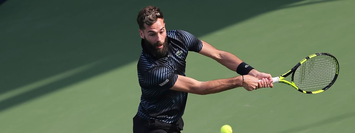 France's Benoit Paire, seen here at the Dubai Duty Free Tennis Championship, in February, has won the ATP title in Lyon. (AP Photo/Kamran Jebreili)