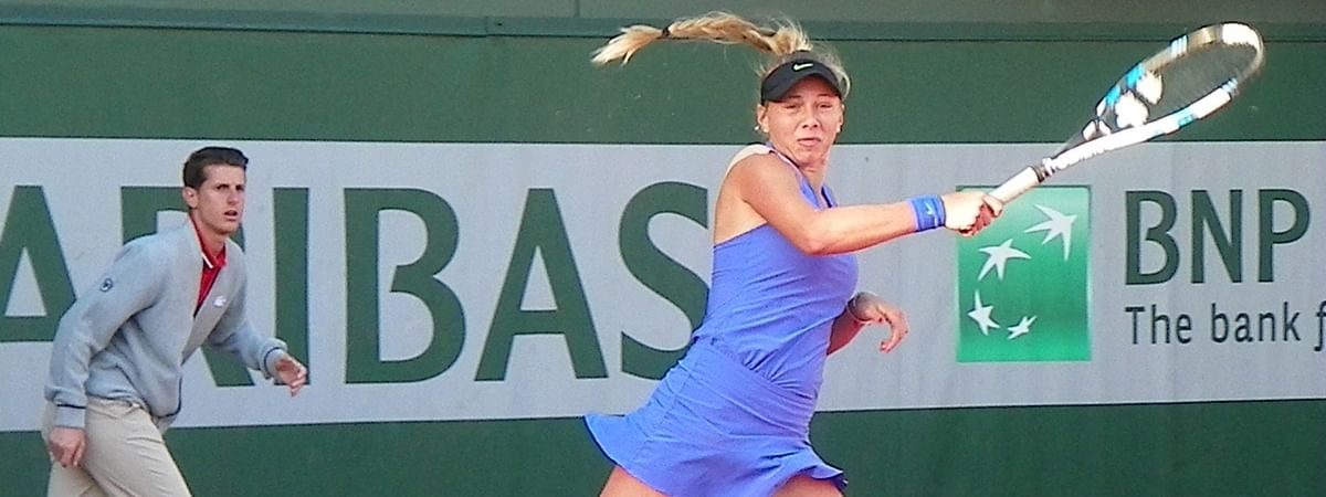 Amanda Anisimova at 2017 French Open is 17 now and playing in the Italian Open.