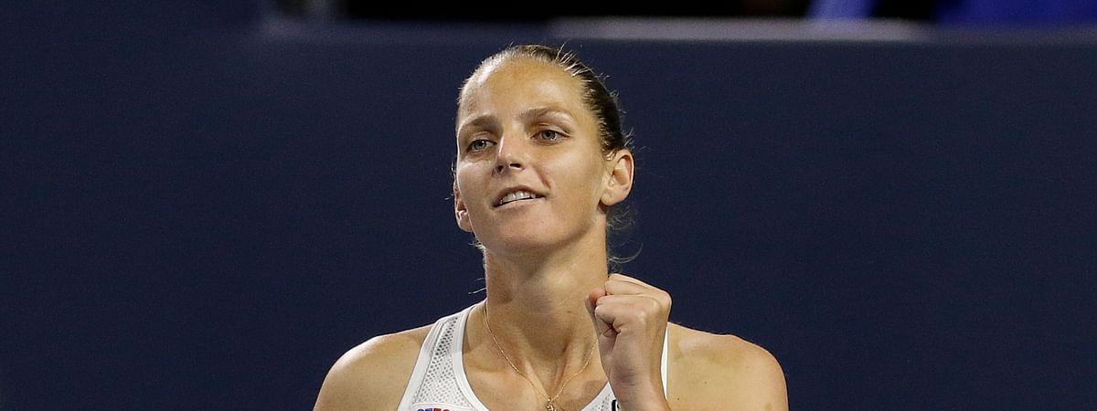 Karolina Pliskova squares off against Kristina Kucova in the 2nd Round of the French Open. (AP Photo/Joe Skipper)