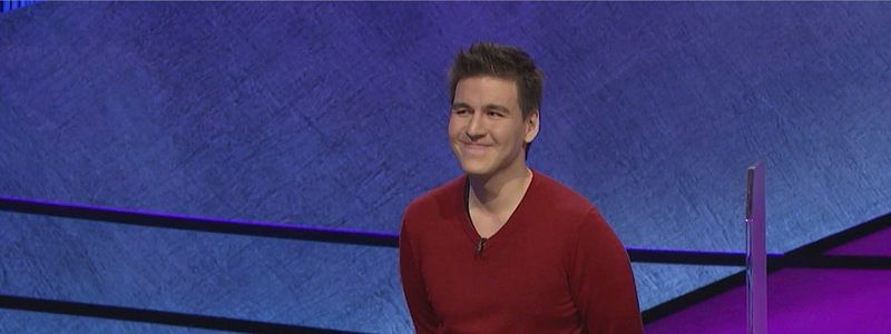 Jeopardy champion James Holzhauer with his final total from the show that aired April 17 (image made from video and provided by Jeopardy Productions, Inc. via AP)