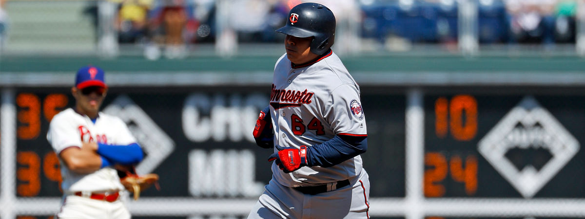 Minnesota's  Willians Astudillo  rounds the bases after homering Saturday, the Phillies' first less-than-three-hour game of the season  (Matt Slocum)