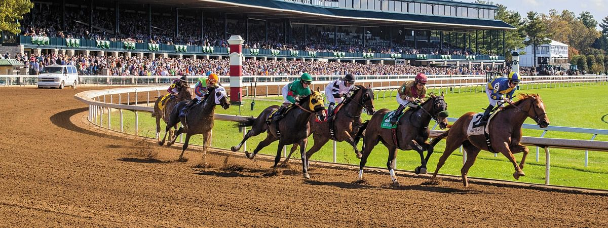 Racing at Keeneland in Kentucky.