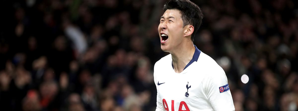 Tottenham Hotspur's Son Heung-min will help lead his team against Huddersfield in early Saturday Premier League action. (Adam Davy/PA via AP)