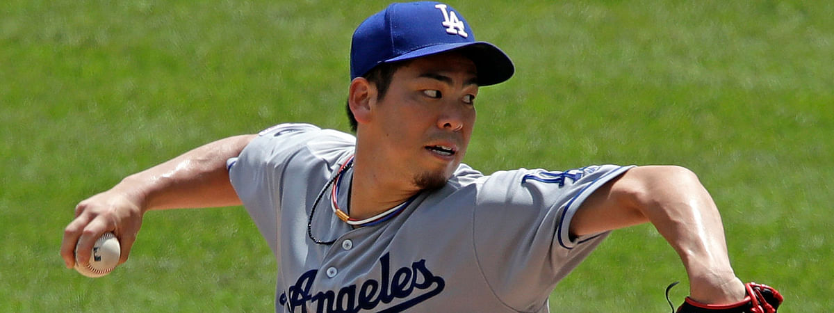 Dodgers' Kenta Maeda pitches in his most recent start on May 26 (Gene J. Puskar)