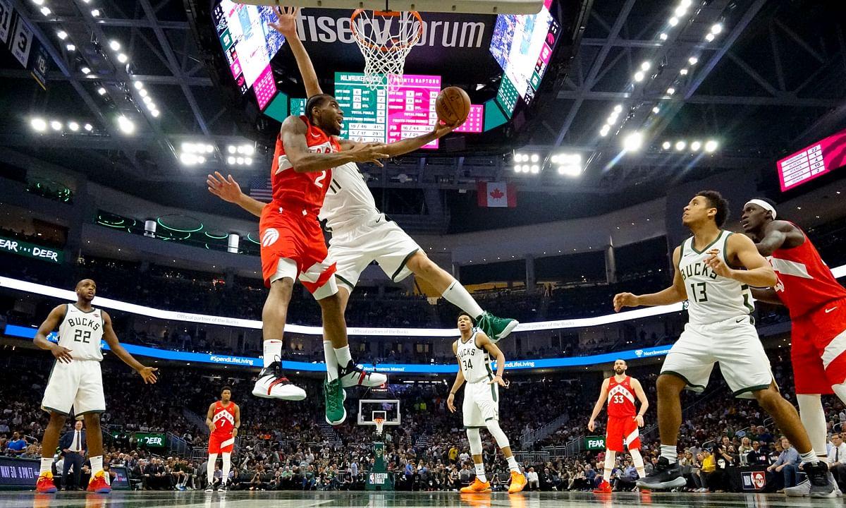 Kawhi Leonard scores 35, Fred VanVleet hits 7 threes and Raptors stun Bucks 105-99 to take 3-2 lead in NBA Eastern Finals